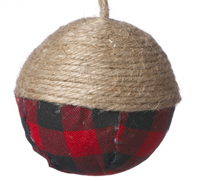 Buffalo Plaid Ball w Jute