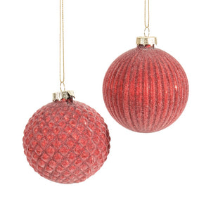 Frosted Red Ornaments