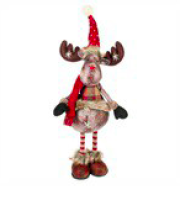 Load image into Gallery viewer, Standing Plaid Plush Moose