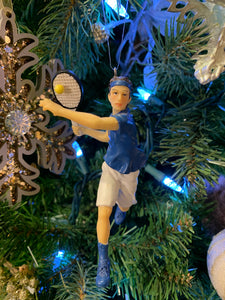 Tennis Player Ornament