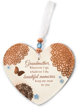 Load image into Gallery viewer, Memories of Grandmother Heart Ornament