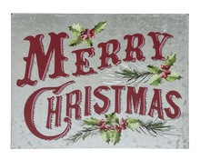 Load image into Gallery viewer, Merry Christmas Galvanized Lit metal sign