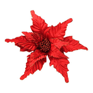 Red Poinsettia Pick