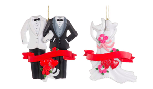 Tux-Tux or Gown-Gown Wedding Ornaments