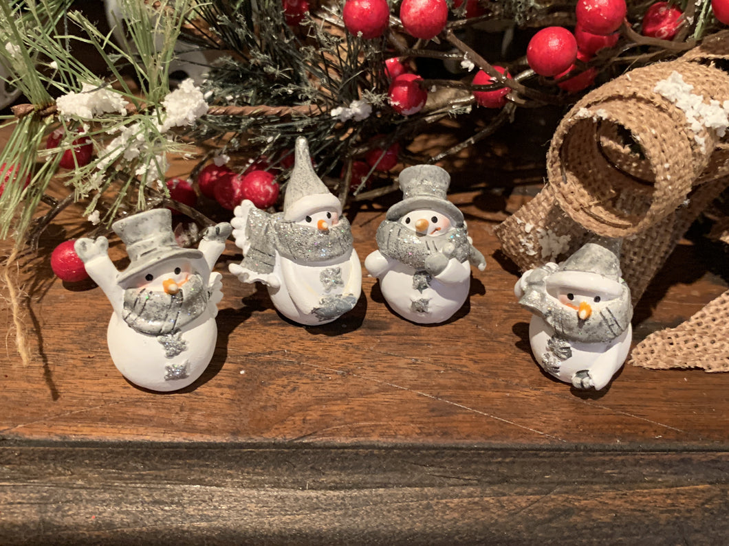 Mini Snowman Figures  - 4 styles
