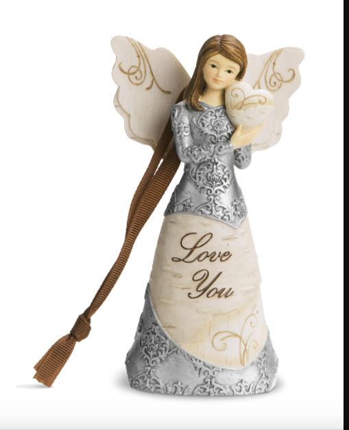 Love You Angel Ornament