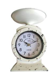 white Scale Clock