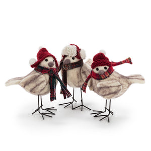 Winter Birds with Hats