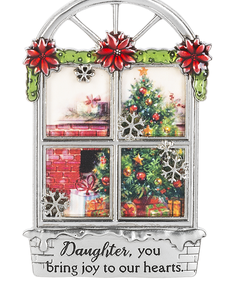 Daughter you bring joy to our hearts Ornament
