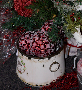Rustic Merry Christmas Pots - 2 sizes