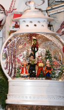 Load image into Gallery viewer, White Lantern Choir Snowglobe