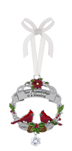 Load image into Gallery viewer, Christmas Cardinal Ornament with Sayings
