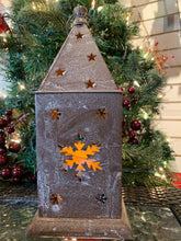 Load image into Gallery viewer, Brown Metal Winter Lodge Lantern