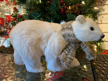 Load image into Gallery viewer, POLAR BEAR W SCARF 8inches