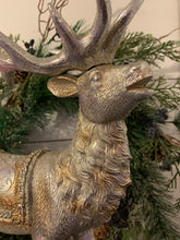 Load image into Gallery viewer, Gold and Silver Vintage Metallic Reindeer