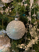 Load image into Gallery viewer, Frosted Green Ball Ornament