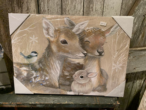 Forest Animal Lit Canvas - 3 styles
