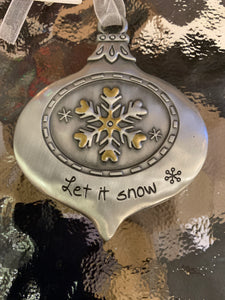 Engraved Metal Ornaments - 7 asst