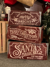 Load image into Gallery viewer, Red Vintage Christmas Crates - 3 styles