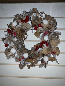Natural Rustic Berry Wreath