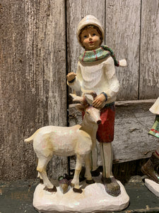 Victorian Child With Deer