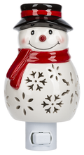 Load image into Gallery viewer, Ceramic Snowman Nightlight