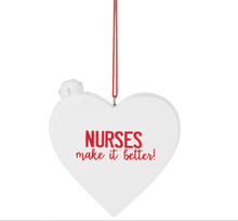 Load image into Gallery viewer, Nurse Heart Ornament
