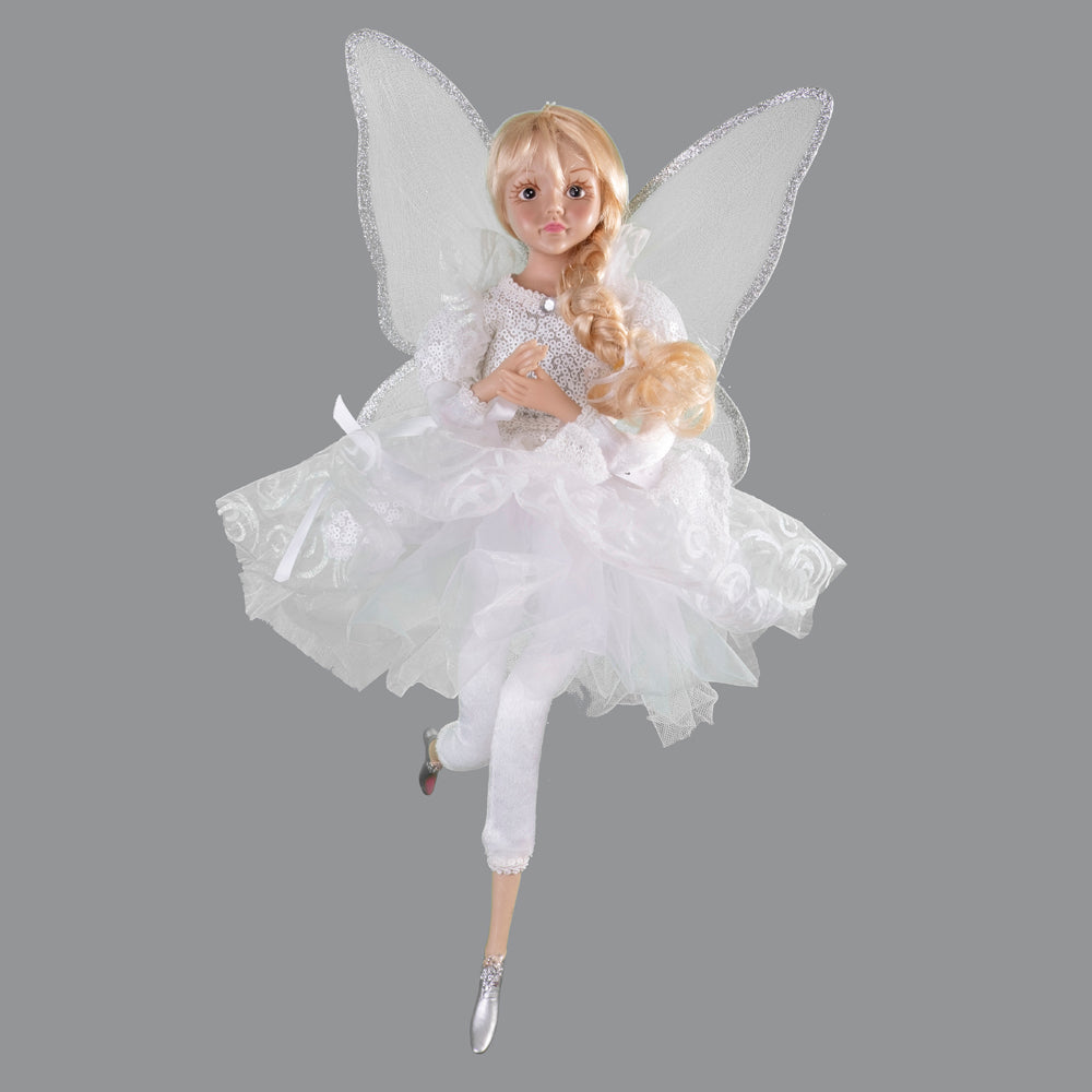 White Posable Musical Fairy