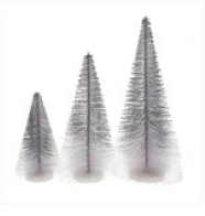 Silver Ombre Bottle Brush Trees