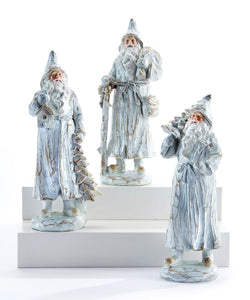 Rustic White Wood Look Santa - 3 styles