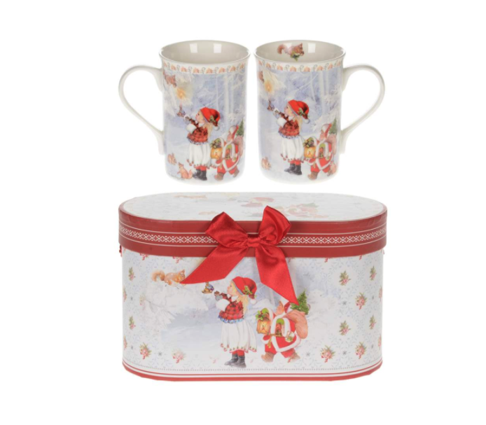 Christmas Children China Mugs in Double Giftbox
