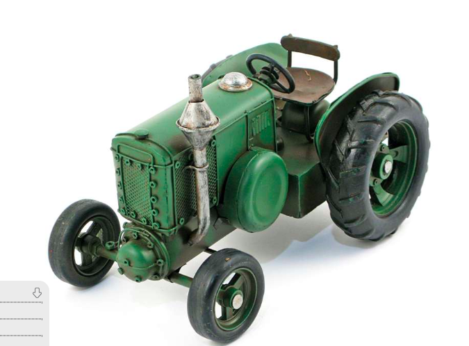 Green Metal Tractor large