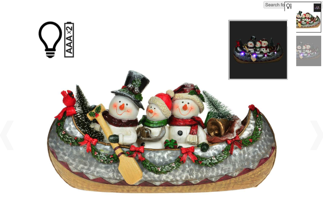 Three Snowmen in a Canoe - lit