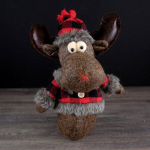 Load image into Gallery viewer, Buffalo Plaid Moose - 2 sizes