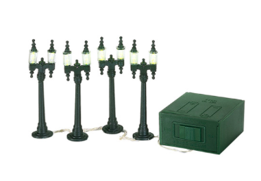 village double street lamps set of 4