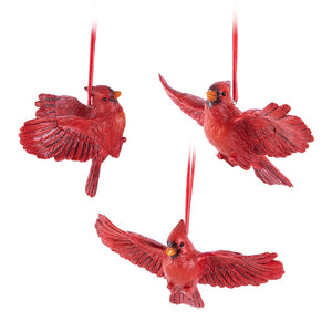 Flying Cardinal Ornament