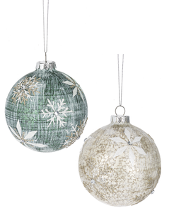 Elegant Snowflake Ball Ornaments - 2 colours