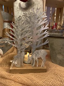 Rustic Deer Tlite Holder