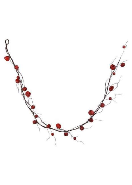 RED JINGLE BELL w CURLY TWIG GARLAND