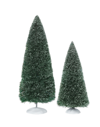 bag o frosted topiaries large set of 2