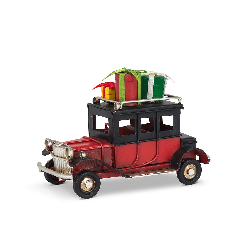 Small Vintage Car with Gifts