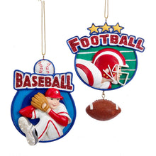 Load image into Gallery viewer, Football OR Baseball Ornament