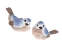 Blue Plush Bird Ornament