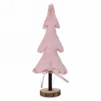 Pink faux fur tree