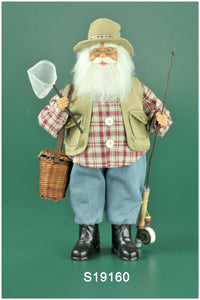 19 inch Fisherman Santa Claus