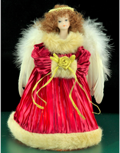Small Red Angel Tree Topper