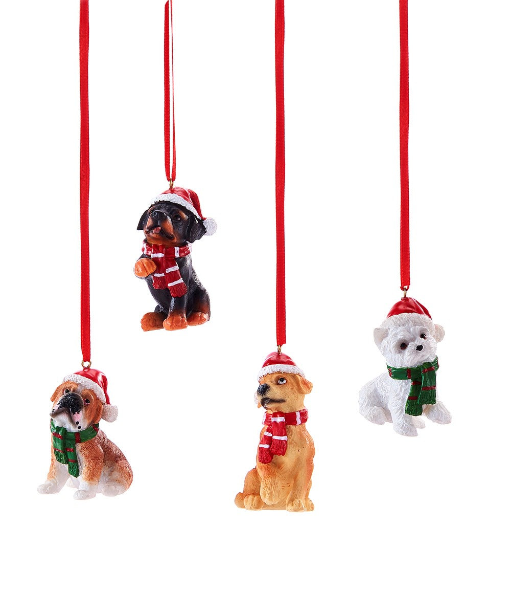 Dog Ornament 4Asst