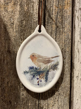 Load image into Gallery viewer, Ceramic Oval Bird Ornaments