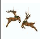 Deer Ornament w Wreath