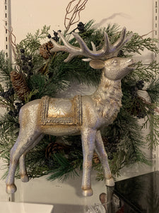 Gold and Silver Vintage Metallic Reindeer